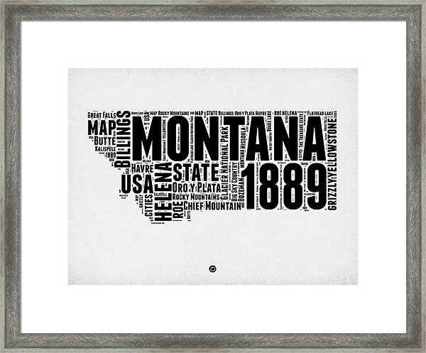 Montana Word Cloud 2 Framed Print