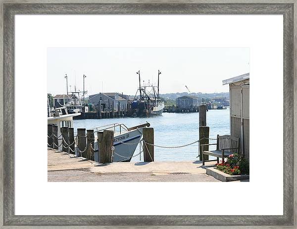 Montauk Harbor  Framed Print