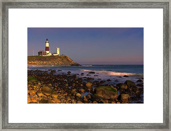 Framed Print featuring the photograph Montauk Lighthouse by William Jobes