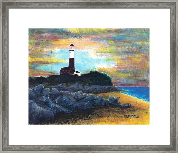 Montauk Point Framed Print