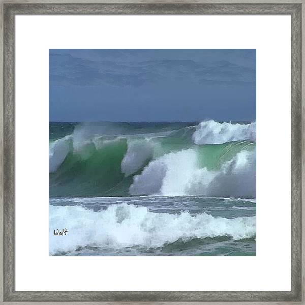 Monterey Surf Framed Print