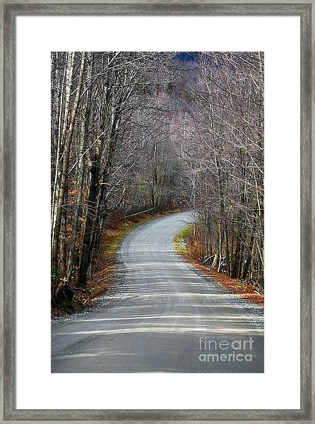 Montgomery Mountain Rd. Framed Print