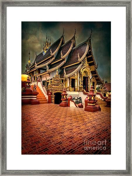Monthian Temple Chiang Mai  Framed Print