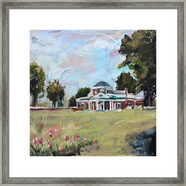 Monticello Charlottesville Virginia Framed Print