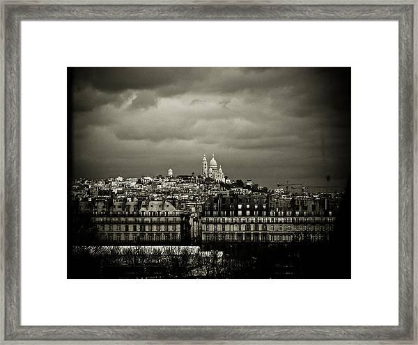 Montmartre Black And White Framed Print