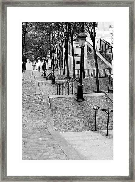 Montmartre Stairway Paris Framed Print