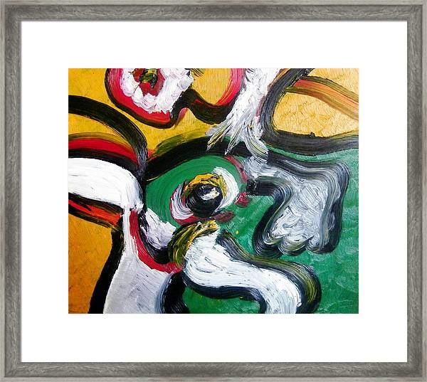 Framed Print featuring the painting Montreal 1996 by Ray Khalife