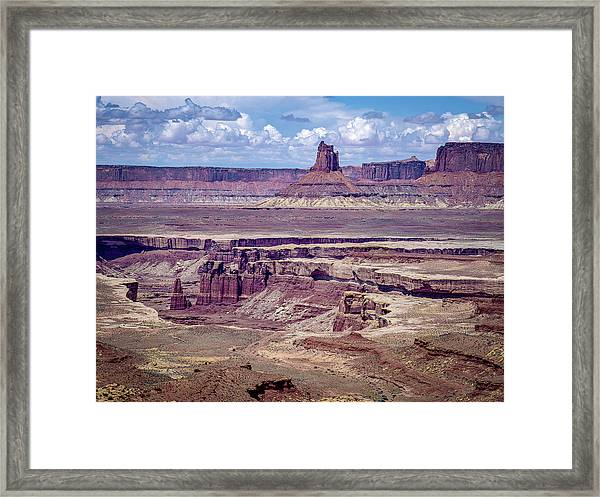 Monument Basin, Canyonlands Framed Print