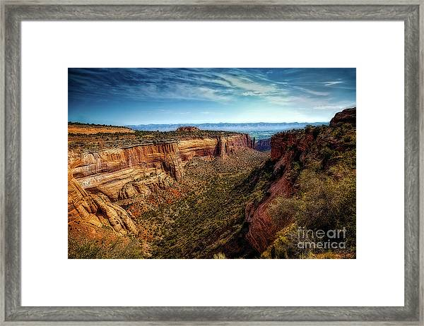 Monument Canyon And Saddlehorn Framed Print