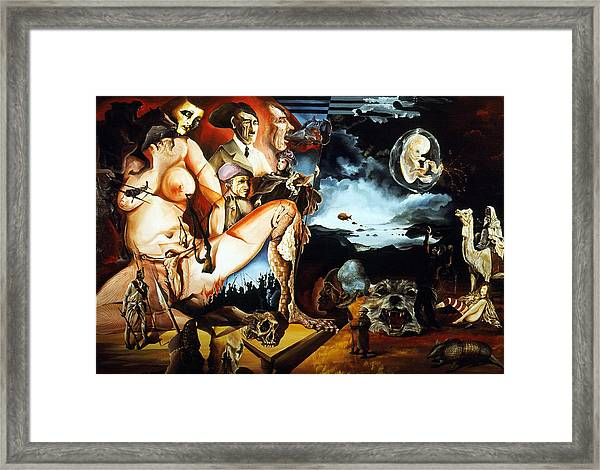 Monument To The Unborn War Hero Framed Print