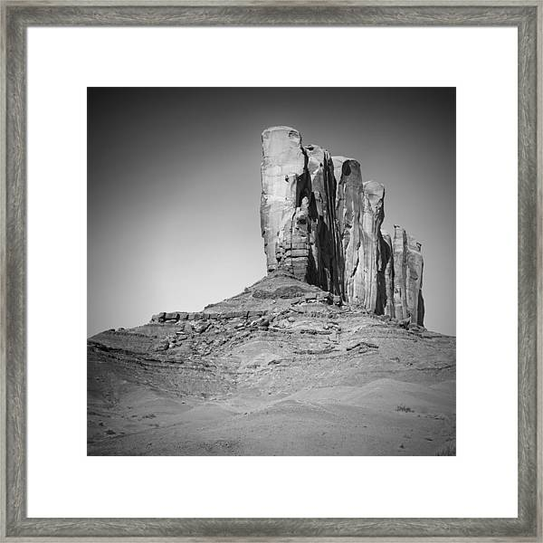 Monument Valley Camel Butte Black And White Framed Print by Melanie Viola