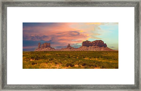 Monument Valley Landscape Vista Framed Print