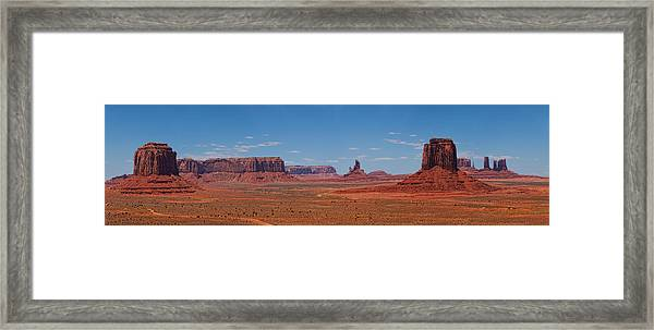 Monument Valley Panoramic Framed Print