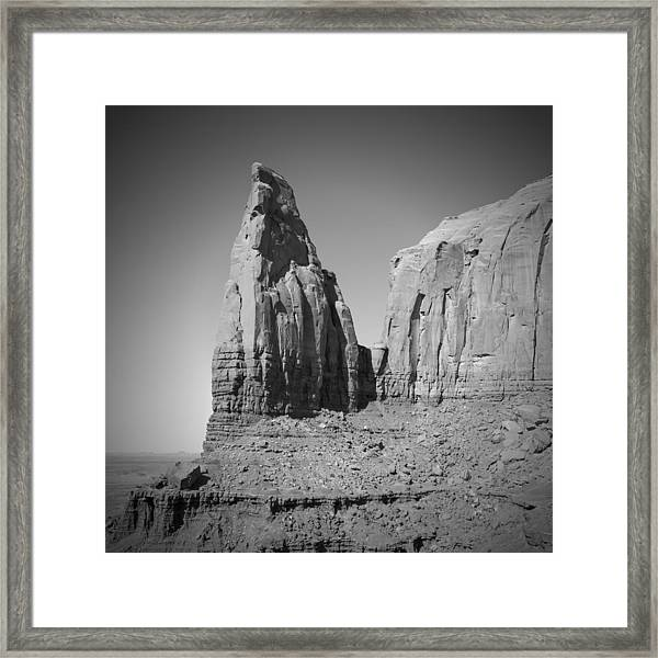 Monument Valley Spearhead Mesa Black And White Framed Print by Melanie Viola