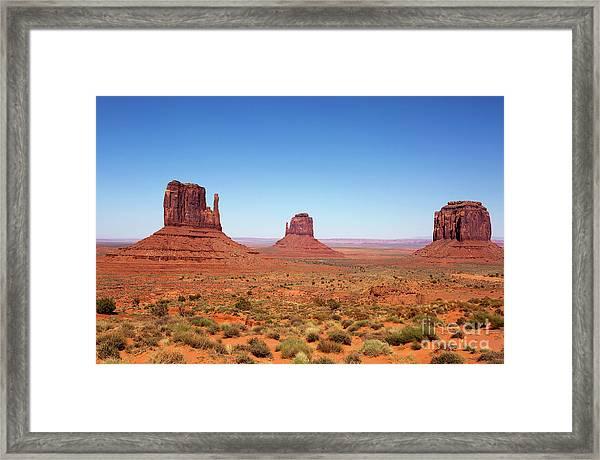 Monument Valley Utah The Mittens Framed Print