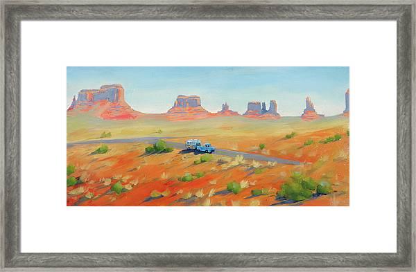 Monument Valley Vintage Framed Print