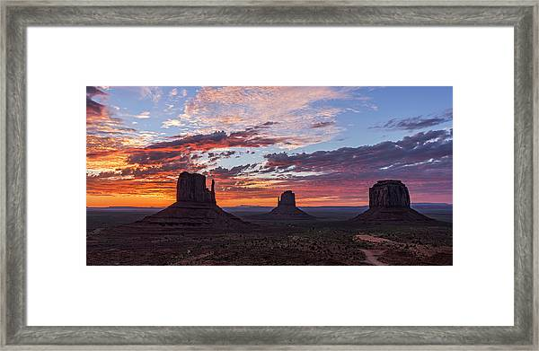 Monumental Sunrise Framed Print