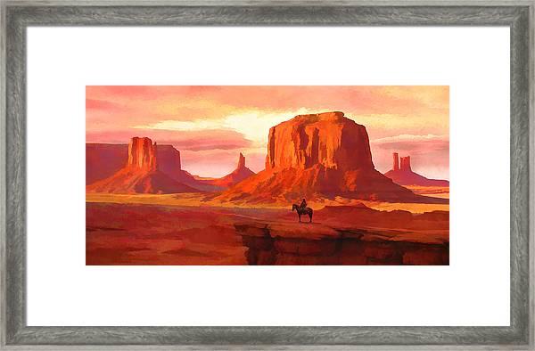 Monumental Sunset Framed Print