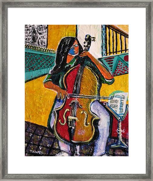 Mood In Music Framed Print