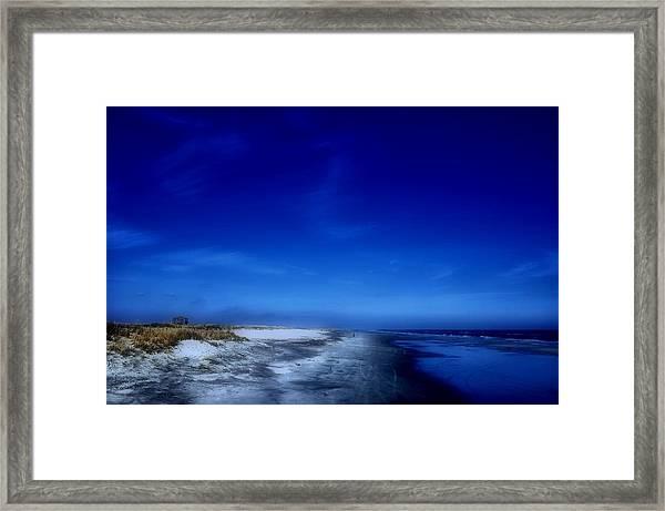 Mood Of A Beach Evening - Jersey Shore Framed Print