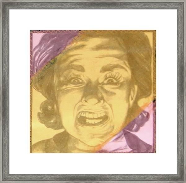 Mood Swings  Purple Framed Print by Joseph Lawrence Vasile