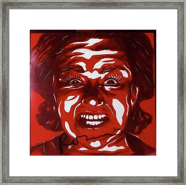 Mood Swings  Red Framed Print by Joseph Lawrence Vasile