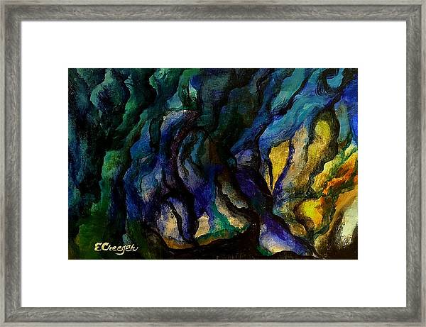 Moody Bleu Framed Print