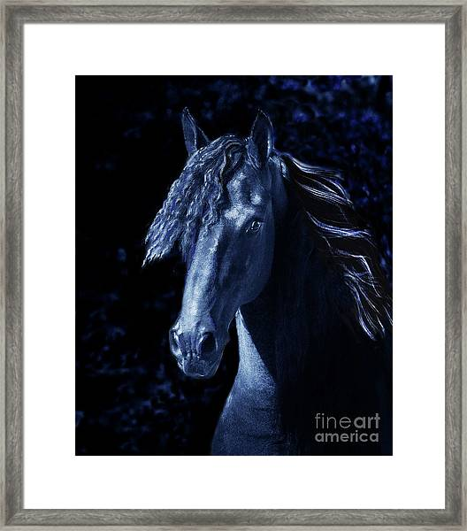 Framed Print featuring the digital art Moody Blues by Melinda Hughes-Berland