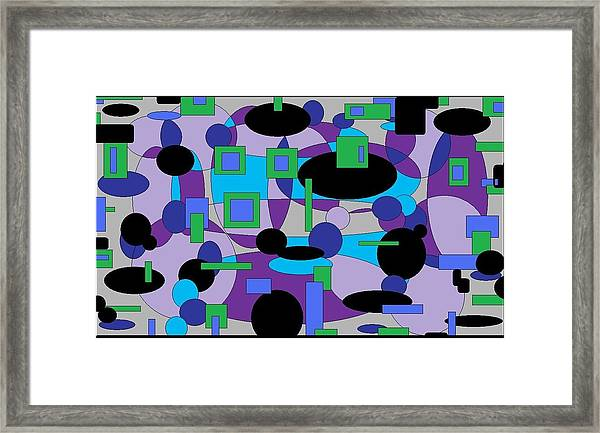 Moody Purple Framed Print