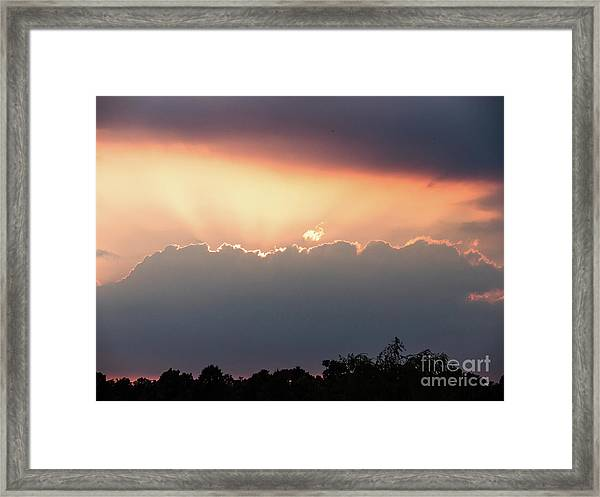 Moody Sunset Clouds Framed Print