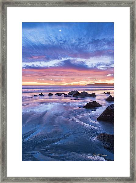Moon Above Framed Print