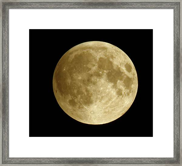 Moon During Eclipse Framed Print