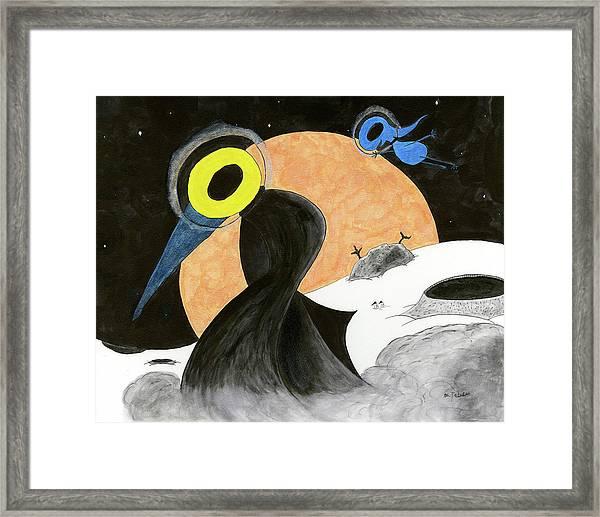 Moon Dusk Framed Print