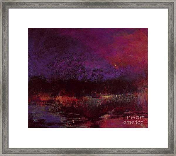 Moon Glow 5-6-11 Julianne Felton Framed Print