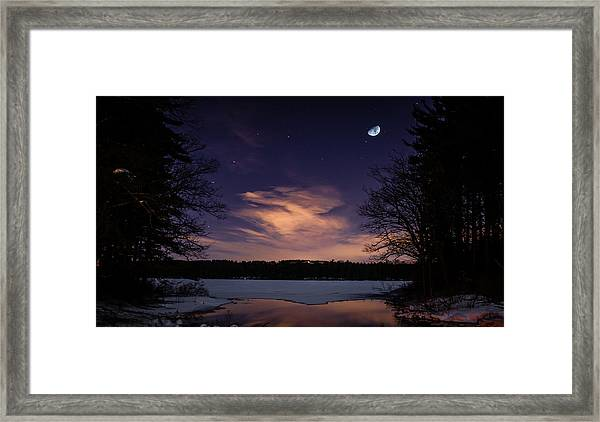 Moon Lake Framed Print