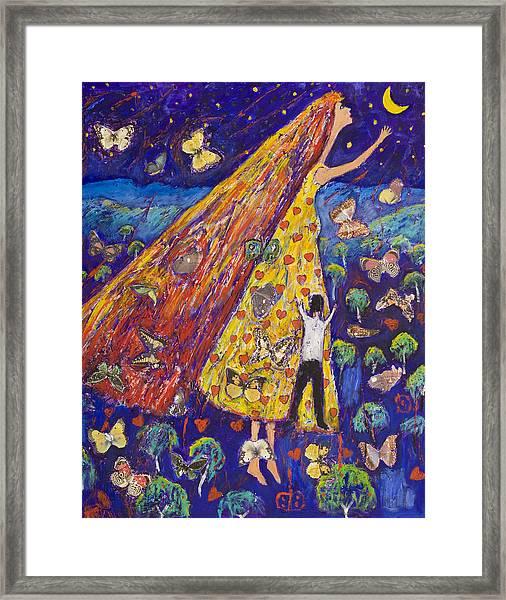 Moon Lover Framed Print