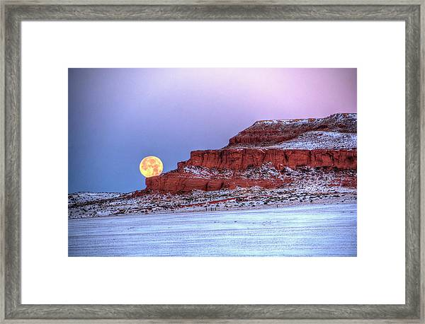 Moon Of The Popping Trees Framed Print