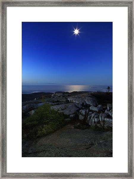 Moon Over Cadillac Framed Print