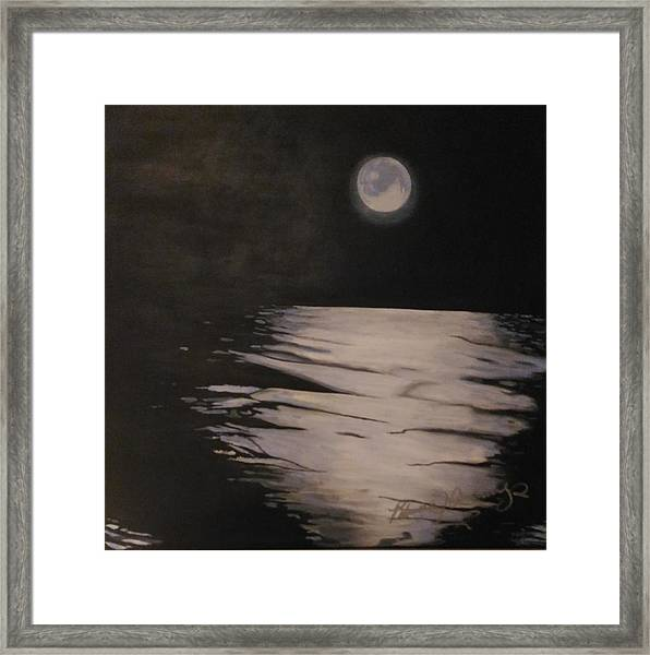 Moon Over The Wedge Framed Print