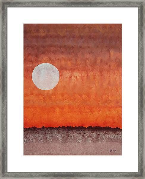 Moon Over Mojave Framed Print