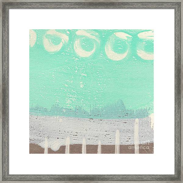Moon Over The Sea Framed Print