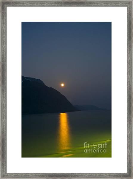 Moon Path Framed Print