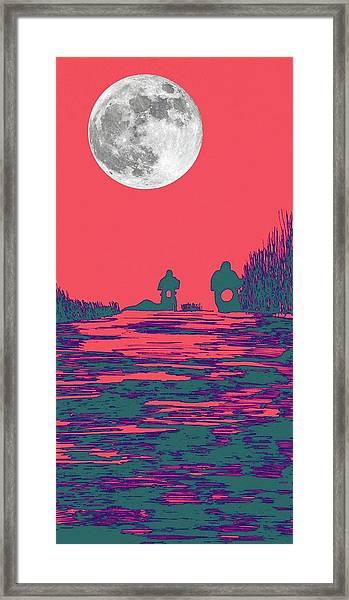 Moon Racers Framed Print
