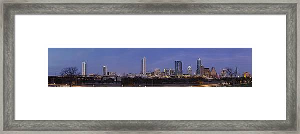 Moon Rise Over Austin Framed Print