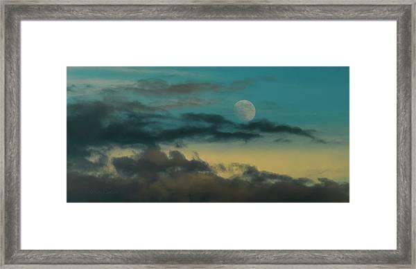 Moon Rise Sun Set Framed Print by Steven Poulton