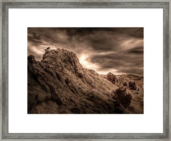 Moon Rocks Framed Print