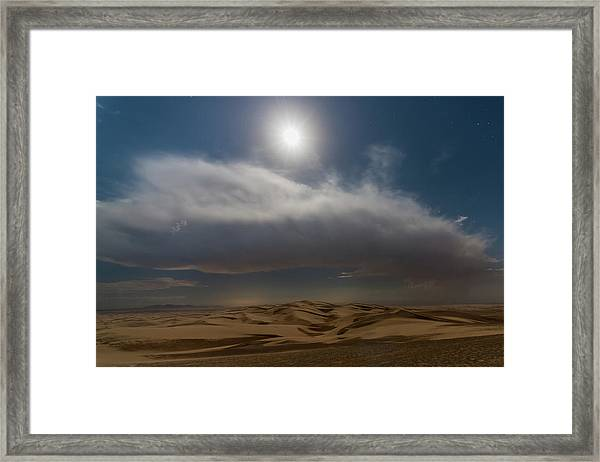 Moon Sparkle Framed Print