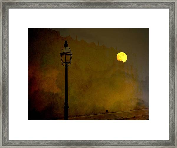 Moon Walker Framed Print