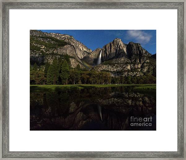 Moonbow Upper Falls Framed Print