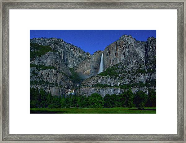 Moonbow Yosemite Falls Framed Print